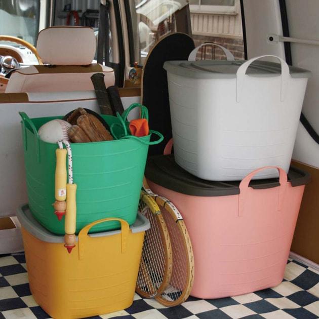 stacksto スタックストー バケット M BAQUET25L  スタックストー バケット おもちゃ おむつ オムツ 収納 収納ボックス ボックス 野菜 かご