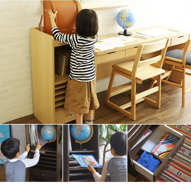 こどもと暮らしオリジナル Curio Life ランドセルラック スリム  ランドセルラック ランドセル 収納 完成品 教科書 木製 ラック 木目 シンプル おしゃれ