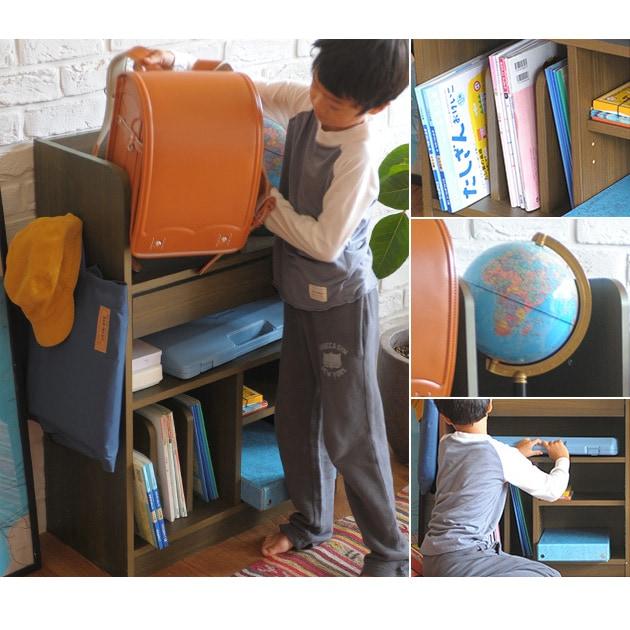 こどもと暮らしオリジナル Curio Life ランドセルラック ワイド  ランドセルラック 完成品 2人用 兄弟 ランドセル 収納 ラック ワイド 日本製 リビング