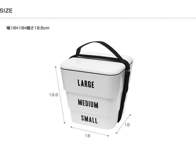 Floyd フロイド LABELED STACKABLE BOX  お重 お重箱 お弁当 ピクニック 運動会 3段 ランチボックス 行楽 シンプル フロイド