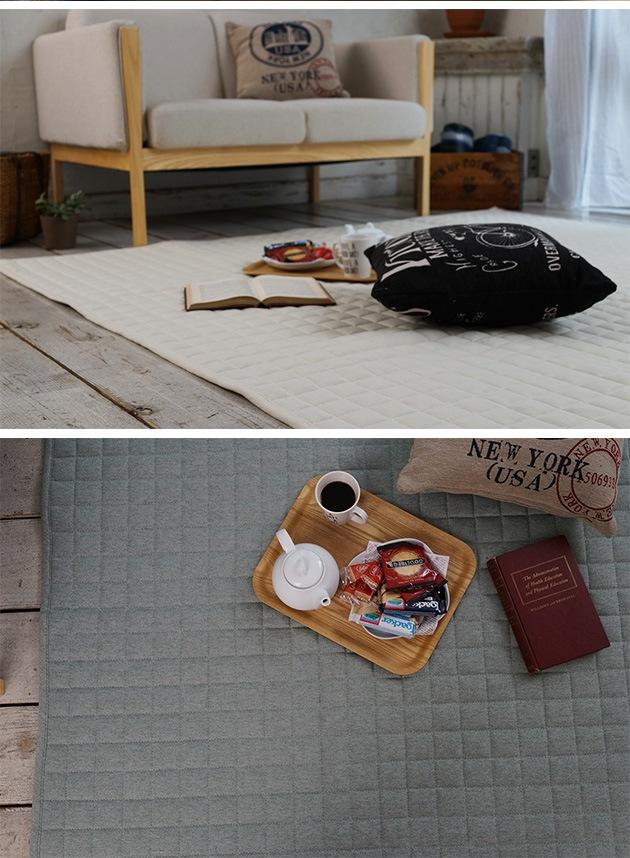 maison de reve メゾンドレーヴ キルトラグ スウェット 130×185cm  キルトラグ ラグ ラグマット 洗える 130×185 おしゃれ 滑り止め 床暖房 ホットカーペット キルティング