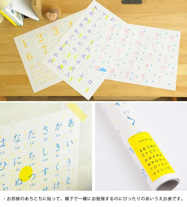 あいうえお表  あいうえお表 学習 学習ポスター カタカナ アルファベット 数字 勉強 リビング学習 インテリア ギフト