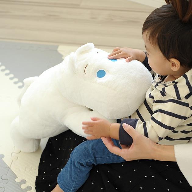 リラクゼーション抱きまくら ムーミン(オフホワイト)  ぬいぐるみ ムーミン 人形 かわいい 北欧 おもちゃ プレゼント ギフト クリスマス 誕生日