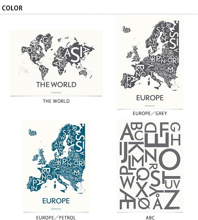Kortkartellet コートカルテレット POSTERS/City- maps 50×70(フレーム別売)  ポスター インテリア map マップ おしゃれ 北欧風 デンマーク リビング 50×70 コートカルテレット