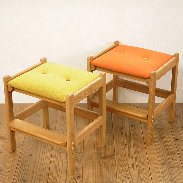 ISSEIKI 一生紀 LEPTON レプトン 44スツール  スツール 子供椅子 キッズチェア 学習椅子 学習チェア 高さ調節 木製 足置き 椅子 シンプル