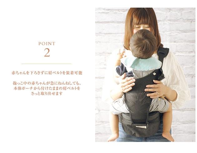 POLBAN(ポルバン) ヒップシート【シングルショルダー単品】腰で支える抱っこひも  抱っこ紐 ウエストポーチタイプ 抱っこひも 腰ベルト 腰痛 コンパクト 出産祝い ギフト ベビーキャリー ショルダー