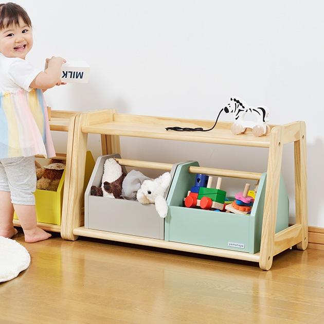 ノスタ トイラックシングル  おもちゃ収納 おもちゃ箱 ラック 棚 チェスト 木製 子ども部屋 リビング かわいい おしゃれ