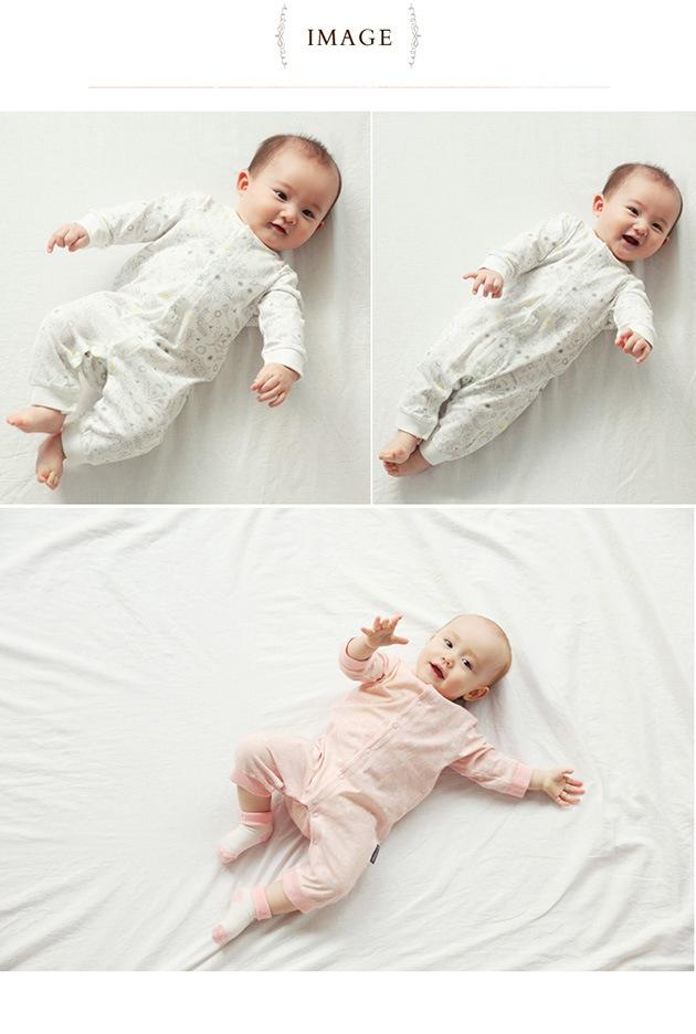 D BY DADWAY ディーバイダッドウェイ 新生児ロンパース ユメミルヒツジ  カバーオール 新生児 ベビー スナップボタン 出産祝い 出産準備 綿100 コットン100 かわいい おしゃれ