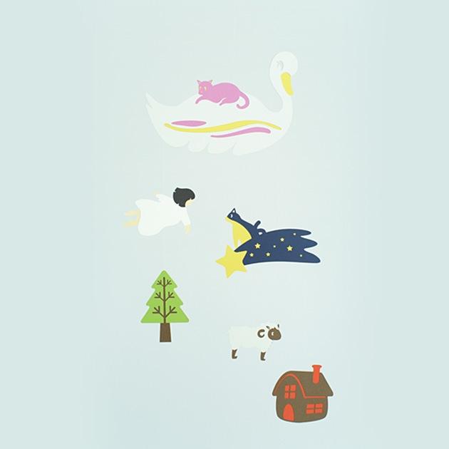 マニュモビールズ 少女の見た夢  モビール おしゃれ 北欧 インテリア 子供部屋 リビング インテリア雑貨 ギフト プレゼント シンプル