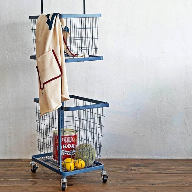 journal standard Furniture ジャーナルスタンダードファニチャー JSF LAUNDRY WAGON  ジャーナルスタンダードファニチャー ワゴン ランドリーワゴン スチール キッチンワゴン キャスター 2段 バスケット 収納 ラック