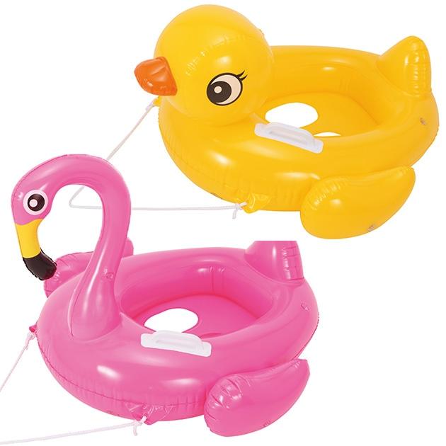 ベビーボート (グリップ付き)  フラミンゴ キッズフロート 浮き輪 浮輪 水遊び うきわ 子供 こども用 ベビー用 アヒル