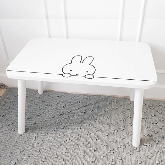KOS ミッフィーマイテーブル   キッズデスク キッズテーブル 木製 ロータイプ 机 ミッフィー Miffy 子供部屋 北欧 かわいい