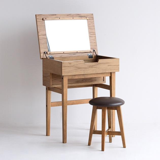 Rasic ラシック Dresser&Stool  ドレッサー スツール 木製 おしゃれ ヴィンテージ レトロ 鏡台 1面鏡 パソコンデスク 作業デスク