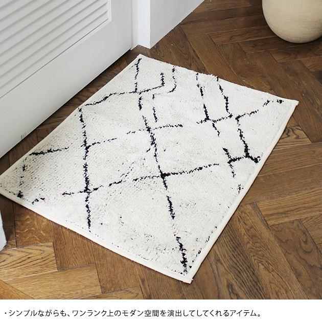journal standard Furniture ジャーナルスタンダードファニチャー SIDI BATH MAT 50*70  バスマット おしゃれ 北欧 日本製 足拭きマット 足ふきマット 滑り止め シンプル モダン 白