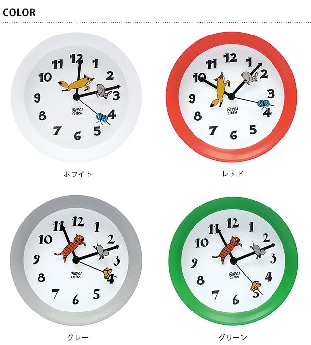 山鳩舎 2wayクロック  掛け時計 おしゃれ 置き時計 かわいい 時計 壁掛け 子供部屋 キッズ リビング キッチン