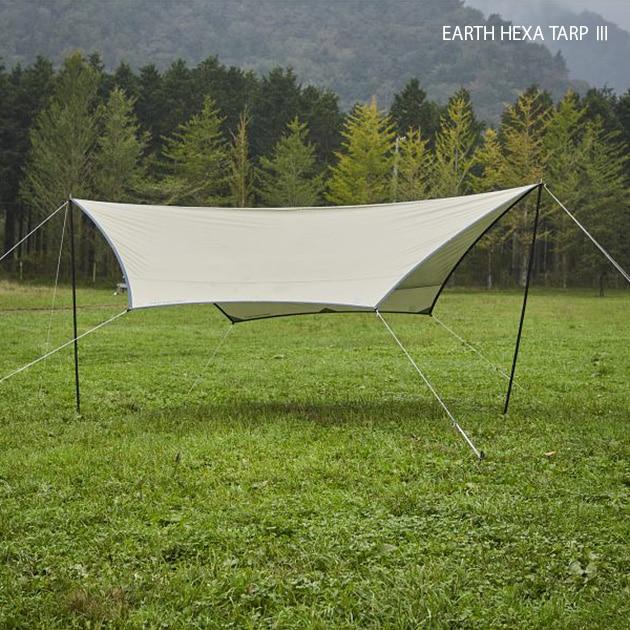 Whole Earth ホールアース EARTH Hexa Tarp 3  タープ ヘキサタープ 日よけ テント タープテント キャンプ アウトドア レジャー おしゃれ 設営簡単