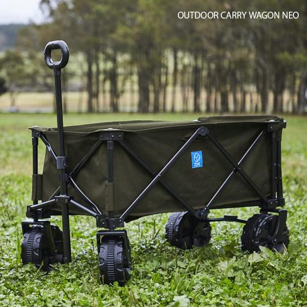 Whole Earth ホールアース OUTDOOR CARRY WAGON NEO  キャリーカート 折りたたみ 大型タイヤ ワゴン 軽量 アウトドア キャンプ バーベキュー BBQ 台車