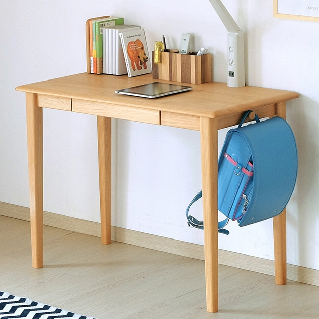 ISSEIKI 一生紀 ERIS KIDS DESK 100  学習机 デスク キッズ家具 引出 フルオープンレール 天然木 木製 シンプル 自然系オイル仕上げ 書斎