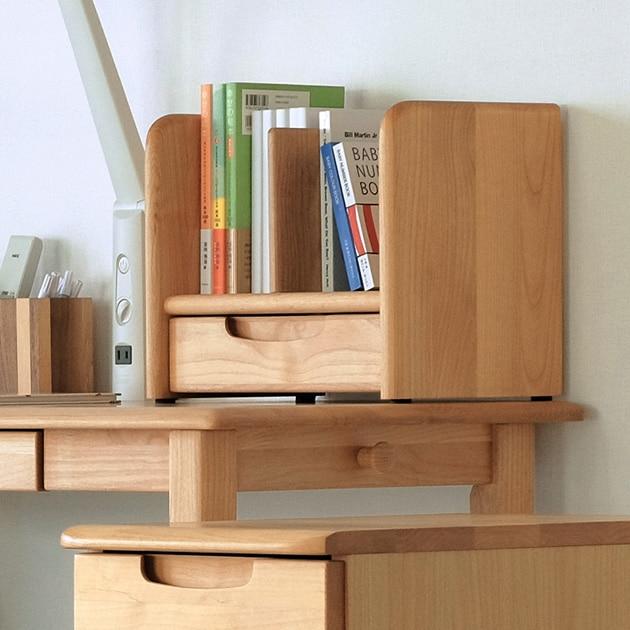 ISSEIKI 一生紀 ERIS KIDS  BOOK STAND 35  ブックスタンド 学習机 キッズ家具 可動式仕切り版 本棚 天然木 木製 シンプル 引出付き 書斎