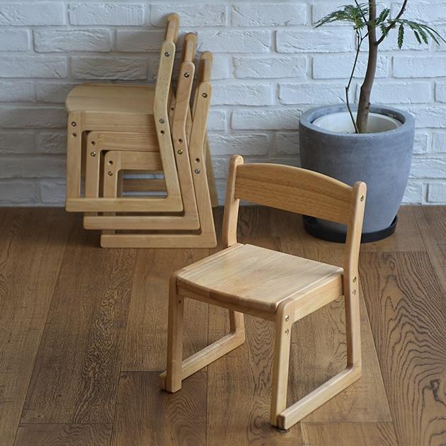 Fiore  スタッキングキッズチェア  キッズチェア 子供椅子 ローチェア スタッキング モンテッソーリ 木製 高さ調整 リビング キッズ家具 知育