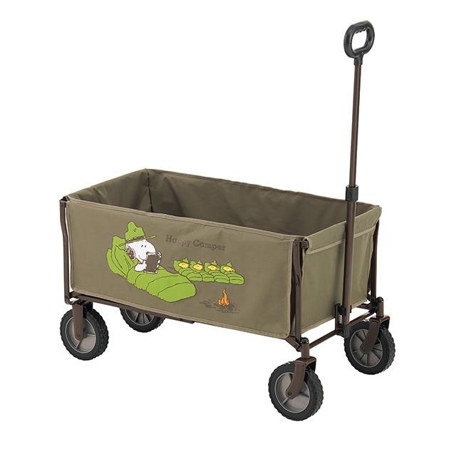 LOGOS ロゴス スヌーピー キャリーカート  キャリーカート リヤカー 荷台 台車 キャンプ アウトドア バーベキュー 公園 折りたたみ 洗える