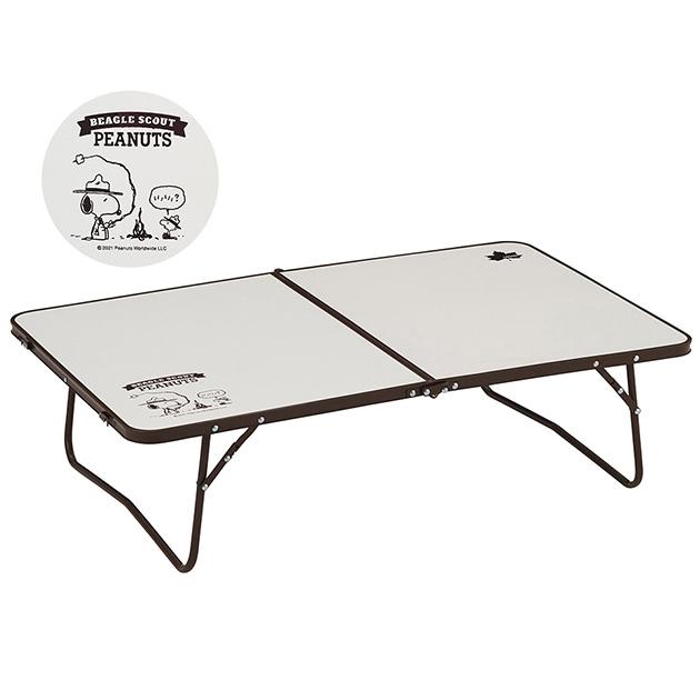 LOGOS ロゴス スヌーピー カートローテーブル  テーブル ローテーブル アウトドア バーベキュー レジャー キャンプ コンパクト 折りたたみ 軽量 スヌーピー