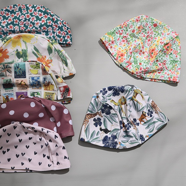 OCEAN&GROUND オーシャンアンドグラウンド スイムキャップ  スイミングキャップ キッズ 子供 男の子 女の子 水泳帽 おしゃれ かわいい スイムキャップ ベビー