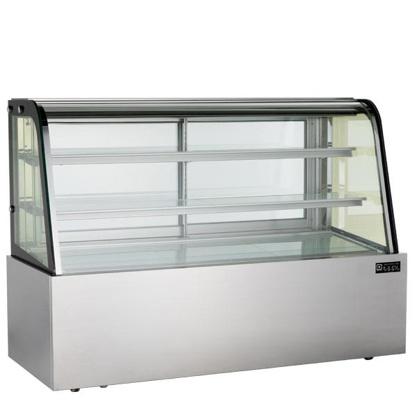 ちるるん対面冷蔵ショーケース LED仕様 3段(中棚2段)幅1800mmタイプ