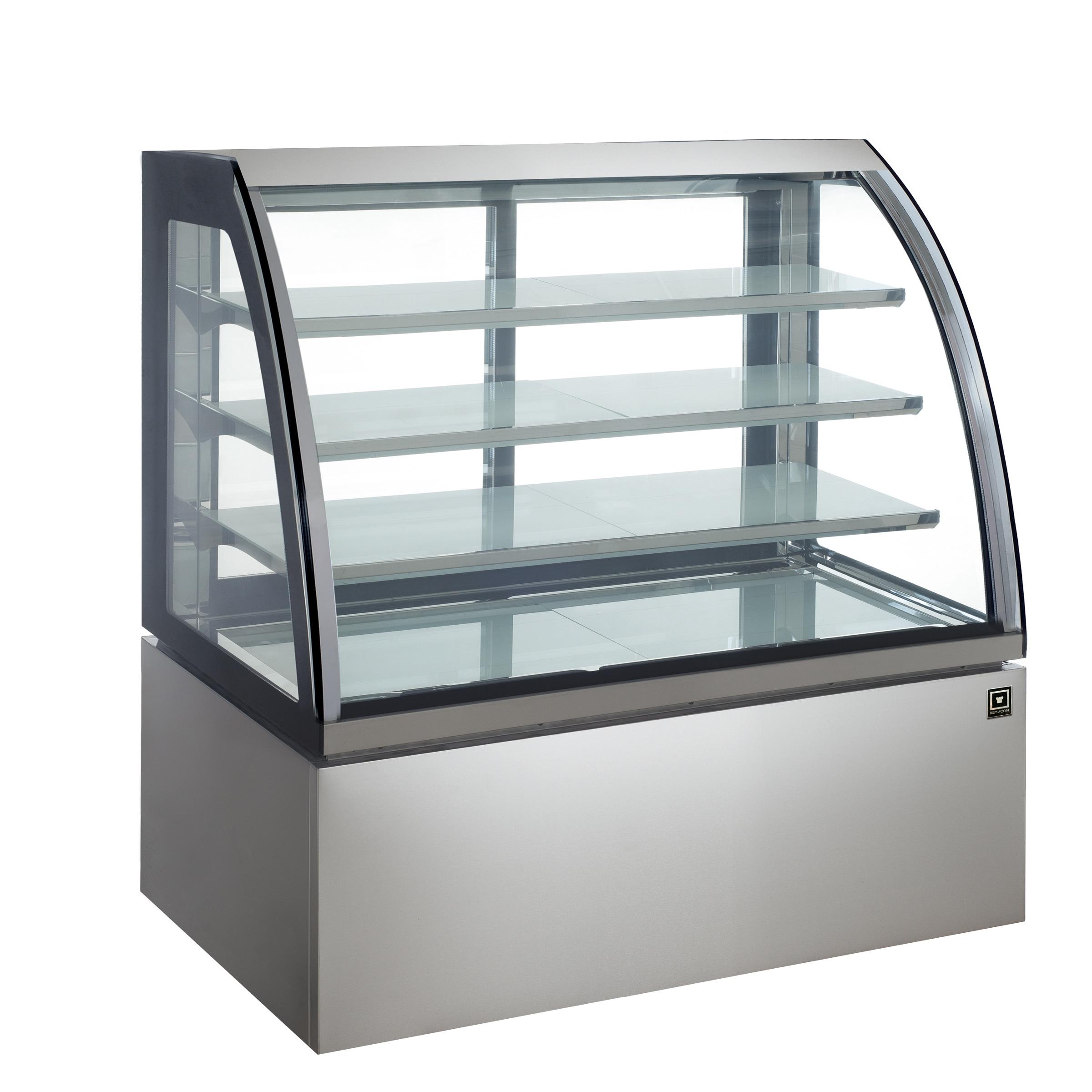 対面冷蔵ショーケース LED仕様 4段(中棚3段)幅1200mmタイプ RCS-K120S3L