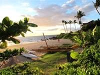 ハワイの海岸の風景