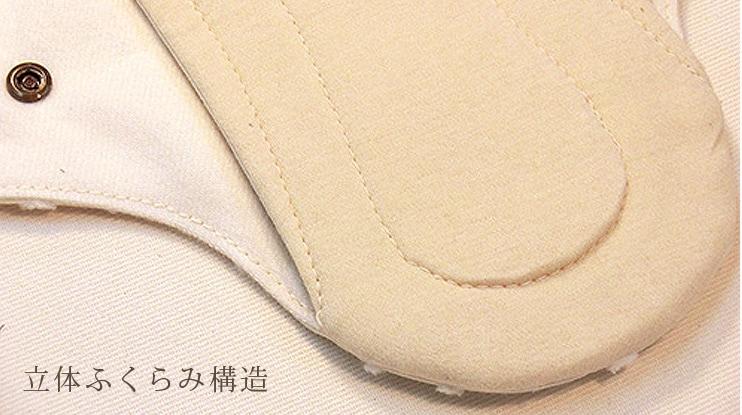 布ナプキン立体ふくらみ構造