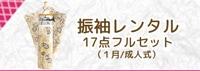 振袖レンタル 17点フルセット(1月/成人式)