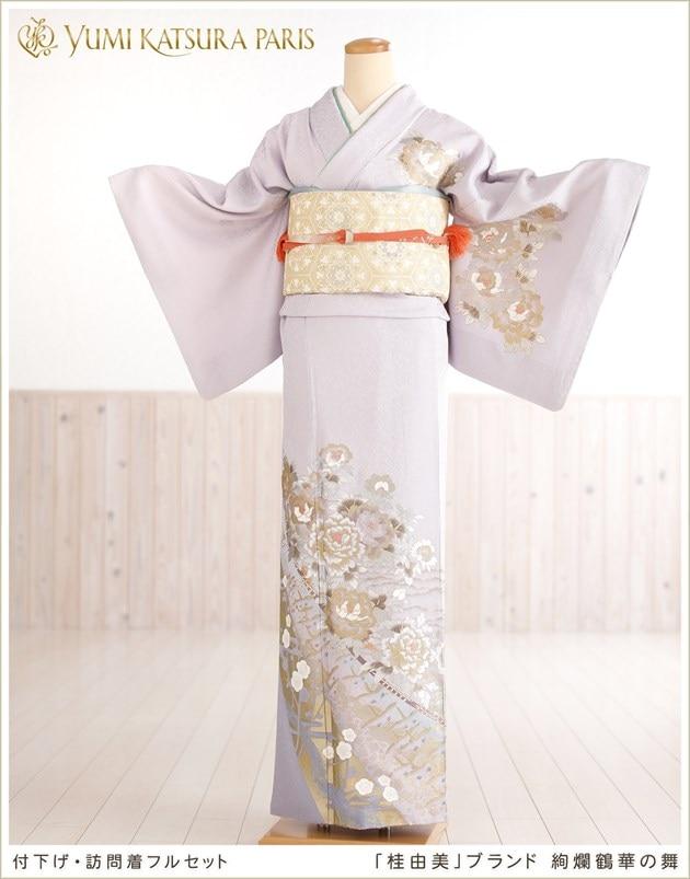 桂由美 訪問着レンタル 絢爛鶴華の舞