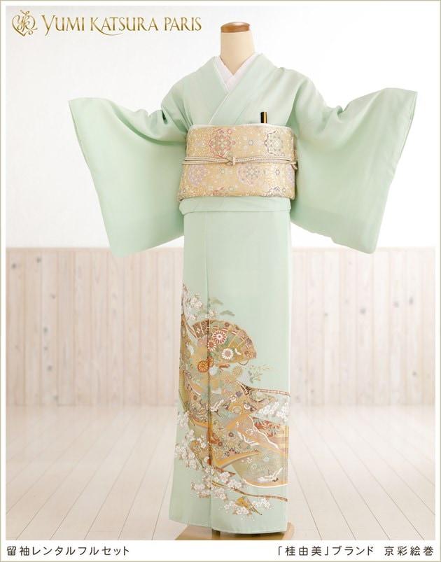 「桂由美ブランド」色留袖レンタル 京彩絵巻