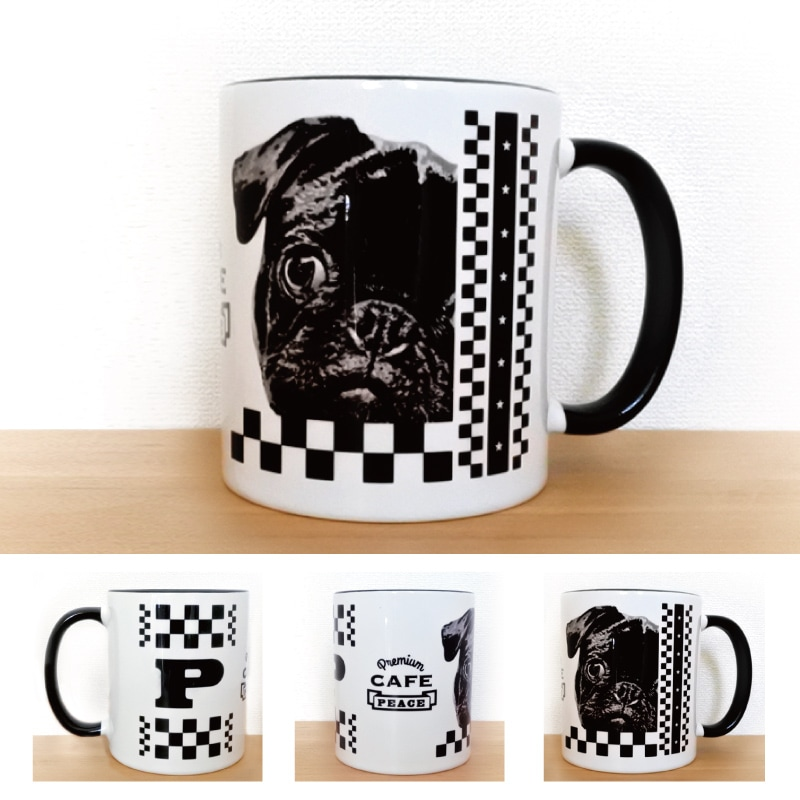 うちCafeマグM【 2 tone - Black & White 】商品写真