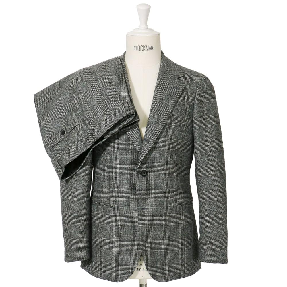 RING JACKET MEISTER FOX/SUPER FINE MERINO WOOLEN Model NO-286 S-178 3B2プリーツスーツ【グレー/グレンチェック】