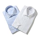 RING JACKET Napoli リングヂャケットナポリ ハンド9工程 MILETA 120/2×120/2 BROAD レギュラーカラーシャツ【ブルー・ホワイト/無地】