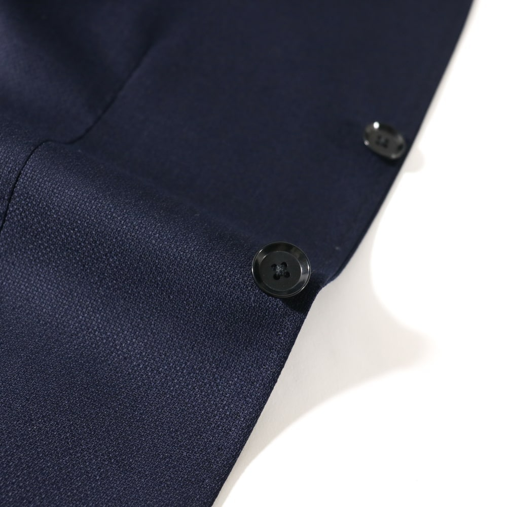 RING JACKET リングヂャケット VITALE BARBERIS CANONICO Model NO-290 ウール3Bジャケット【ネイビー/無地】