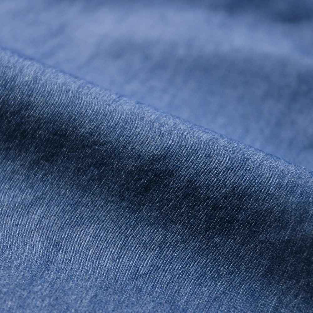 リングヂャケットナポリ ハンド9工程 MONTI ストーンウォッシュ ヒドゥンボタンダウンワンピースカラーシャツ