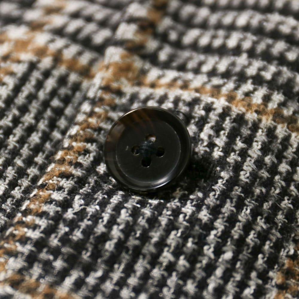 RING JACKET MEISTER FERLA Model NO-286 アルパカ・ウール・シルク・リネン・ナイロン3Bジャケット【グレー/チェック】