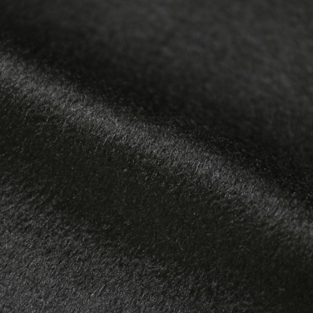 RING JACKET Napoli リングヂャケットナポリ CERUTTI ダブルフェイスカシミヤ Pコート【ブラック/無地】