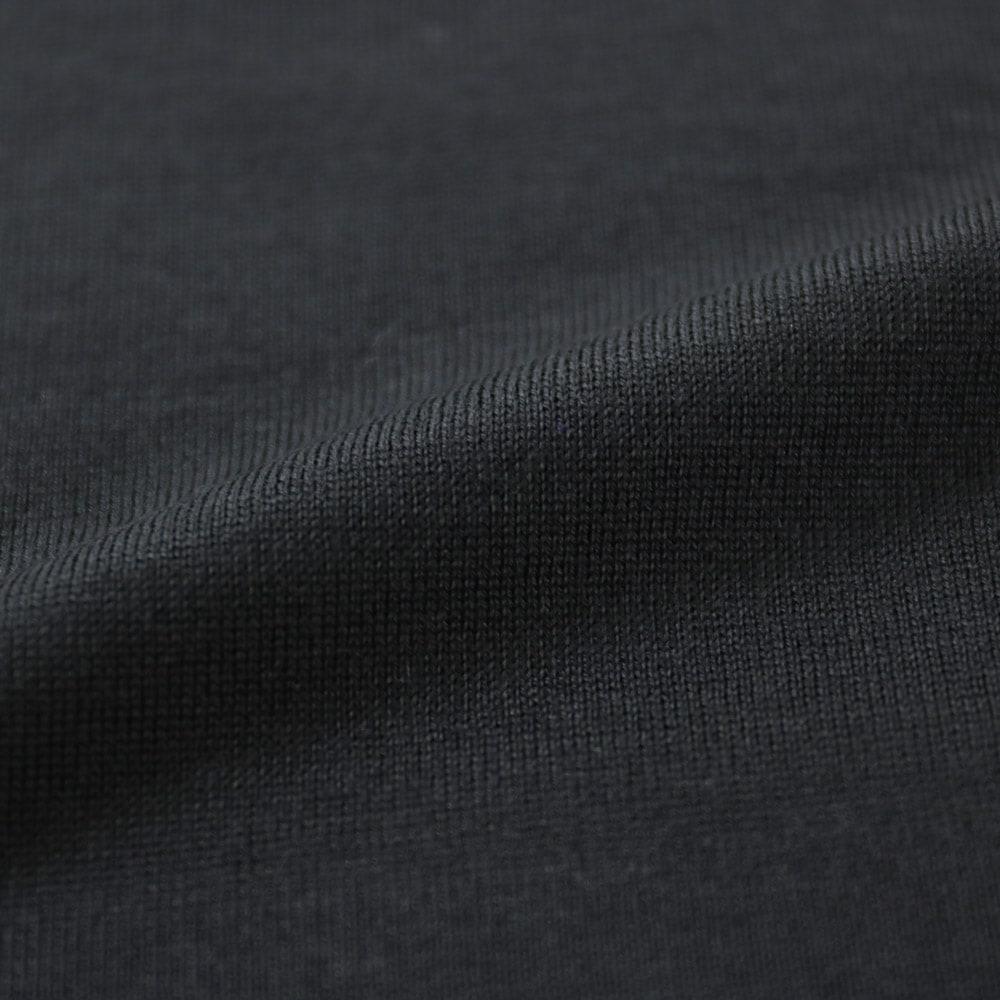 RING JACKET Napoli リングヂャケットナポリ ハイゲージ ウールタートルネックセーター【ブラック/無地】