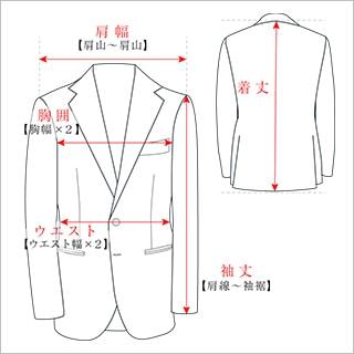 スーツ/ジャケットのサイズガイド