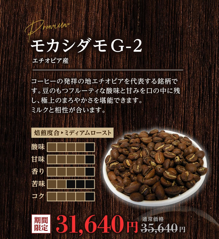 コーヒー豆 モカシダモG-2