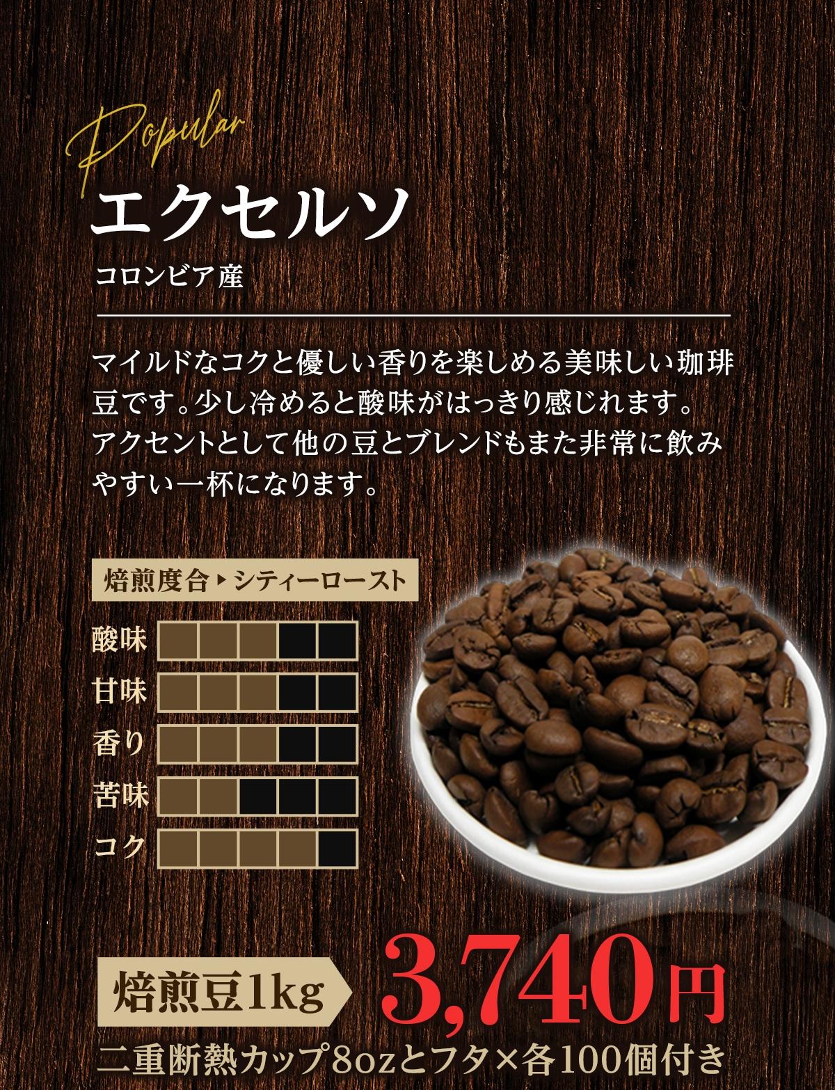 コーヒー豆 エクセルソ