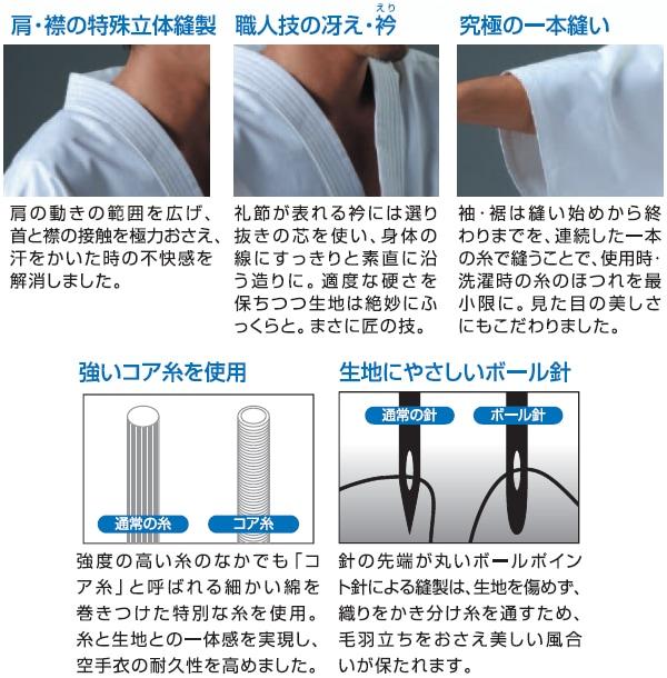 【マーシャルワールド 空手】純白フルコンタクト空手着 KU5 上衣・ズボンセット