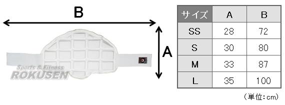 【東海堂】ボディプロテクターサイズ表