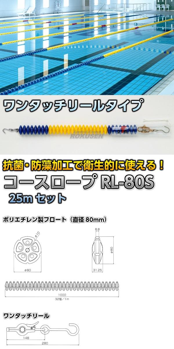 コースロープ RL-80S ワンタッチリールタイプ 25mセット