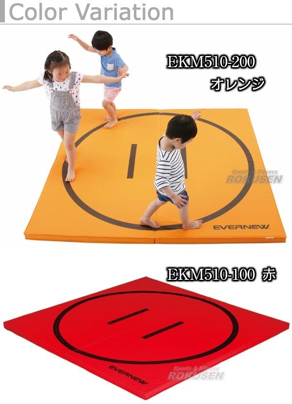 【EVERNEW・エバニュー 体操】軽量折りたたみ土俵マット すべり止め付き 180×180cm EKM510