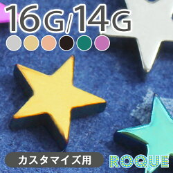 16G 14G スターモチーフキャッチ